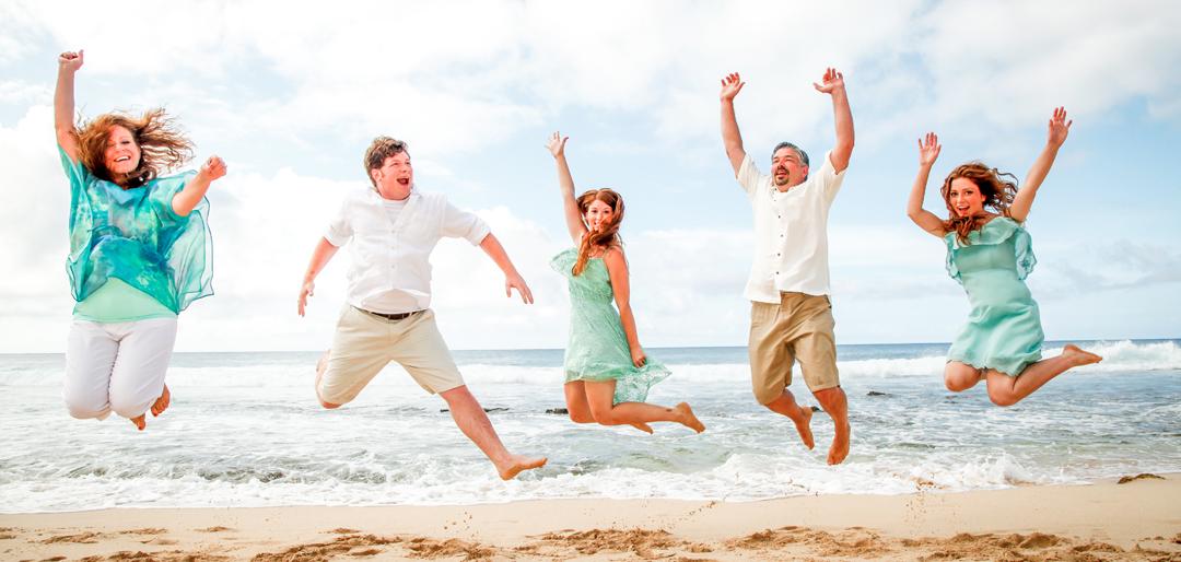 Jumping Family Photos Hawaii