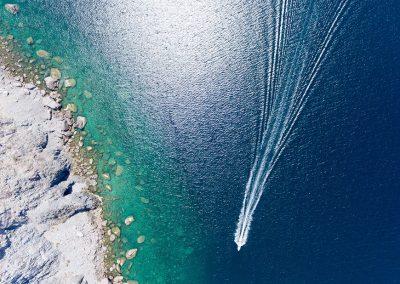 Aerial shots from La Paz bay, Baja California Sur, Mexico.