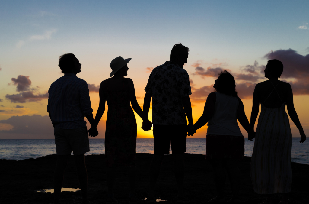 Family Photography: Silhouettes in the Sunset