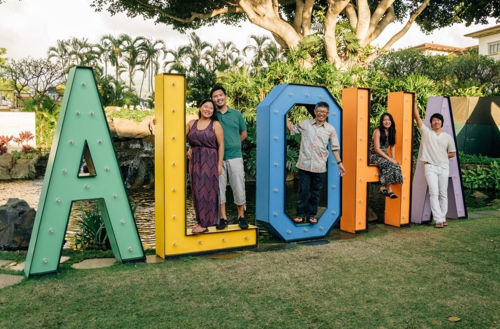 Hawaii Photographer: Funny Poses for Pictures with Friends